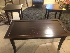 Coffee table and side tables for Sale in Tempe, AZ