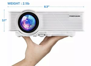 """PUT SAUND GP9 Mini Projector 2400 Lumens 1080P 200 """"LCD Ipad Fire TV USB Stick for Sale in Indianapolis, IN"""