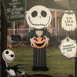 Nightmare Before Christmas 5 Ft Jack Skellington Airblown LED Inflatable for Sale in Raleigh, NC