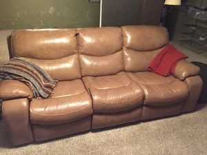 Ashley Leather Reclining Sofa and Loveseat for Sale in Denver, CO