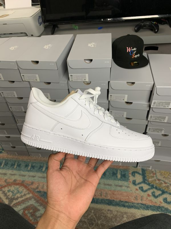 Air Force 1 all white low top Nike af1