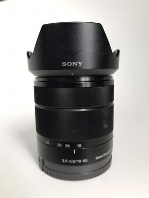 Sony 18-55mm F3.5-5.6 OSS E-mount NEX Series Camera Lens for Sale in Los Angeles, CA