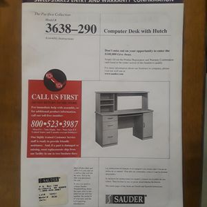 Sauder Computer desk with hutch for Sale in Cajah's Mountain, NC