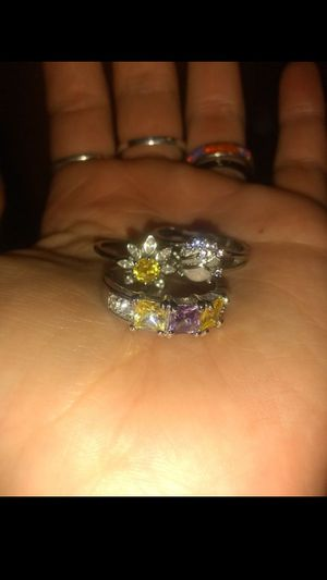 925 Solid SiLveR SuNfLoWer RiNg SeT for Sale in Layton, UT
