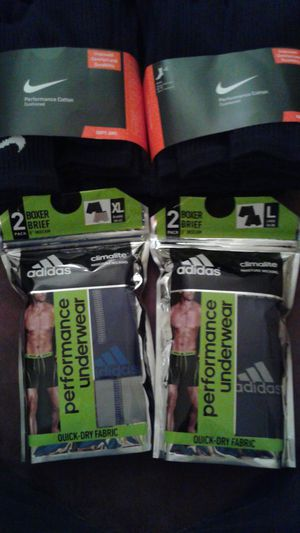 Nike Crew Socks & Adidas Briefs for Sale in Portland, OR