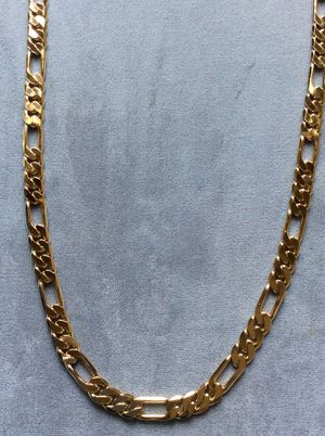 """30"""" Figaro 8mm Necklace 14k Gold Plated *Pickup Boca Raton Or Ship Nationwide for Sale in Boca Raton, FL"""