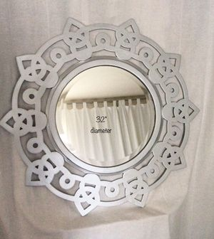 Large mirror with silver metallic finish for Sale in San Diego, CA