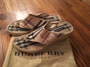 Authentic Burberry wedges shoes for Sale in Nashville, TN
