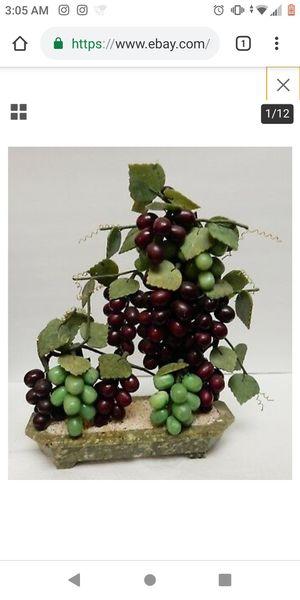 Jade Stone marbel sculpture of Grape Bonsai tree Vine from China Oriental Asia for Sale in El Monte, CA