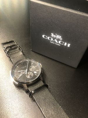 Coach watch on leather strap for Sale in Whittier, CA