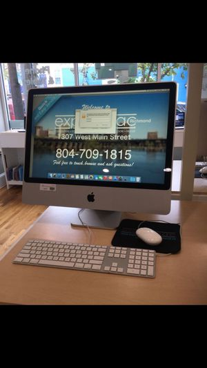 All in one system silver Apple iMac with mouse and keyboard in last picture for Sale in Modesto, CA