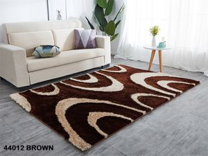 5x7 brown beige modern shaggy rug contemporary design carpet for Sale in Los Angeles, CA
