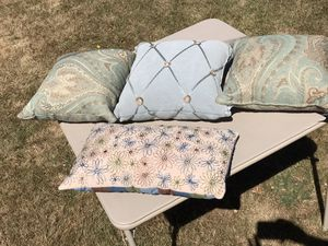 Decorative pillows (middle and flower sold)* for Sale in Seattle, WA