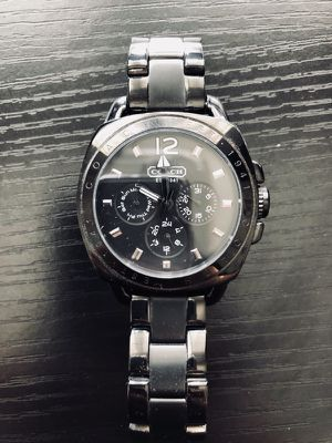 Coach Black Boyfriend Watch for Sale in Rancho Cucamonga, CA