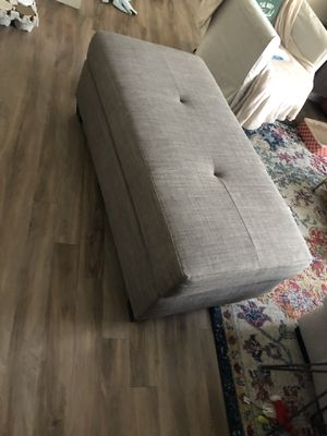 Grey/brown comfy ottoman for Sale in Denver, CO