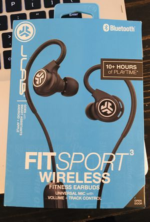 JLab Fit 2.0 Wireless Sport in-Ear Earbuds- Black, NEW for Sale in San Diego, CA
