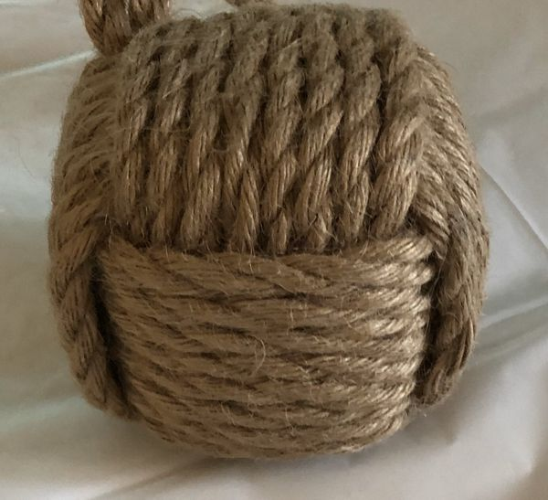Decorative Brown Rope Ball Home Accent