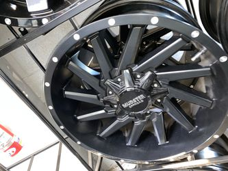 Mudster off road 8x170 rims with tires full package for Sale in Madison Heights,  MI