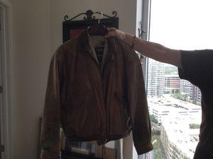 Men's medium leather jacket for Sale in Austin, TX