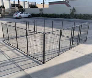 New in box 40 inch tall x 32 inches wide each panel x 16 panels exercise playpen fence safety gate dog cage crate kennel perrera cerca for Sale in San Dimas, CA