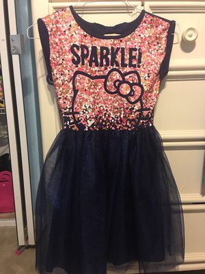 Girls Hello Kitty party dress, size L for Sale in Gaithersburg, MD