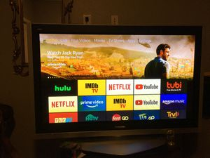 Panasonic tv and stand for Sale in Garland, TX