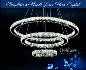 3 Ring Crystal Chandelier Diamond Design Beautiful and Exquisite for Sale in Las Vegas, NV