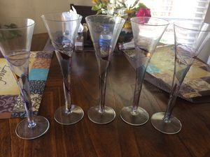 Set of floral glasses for Sale in Cary, NC