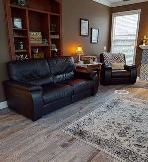 Italian Leather couch and chair for Sale in Ripon, CA