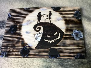 Simply meant to be 4x6 print of wood burning nightmare before christmas for Sale in Bethel, CT