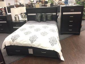 5 PC Queen Bedroom Set, Black for Sale in Norwalk, CA