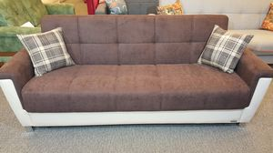 European Sofa Bed With Storage, Brown for Sale in Niles, IL