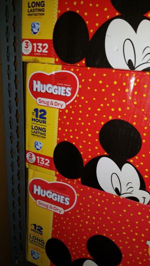 Diapers huggies size 3 132 account for Sale in Stockton, CA