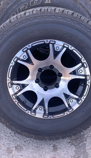 Set of 4 rims and tires E rated 265/70r17 6 lug for Sale in Manteca, CA