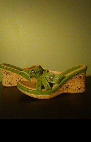 Olive green wedges for Sale in Springfield, MA