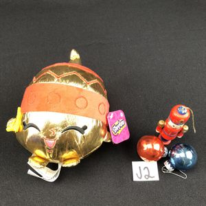"""Shopkins Ornament Annie Plush 6"""" Stuffed Toy Christmas New With Tags Doll Gold. Condition is New. Shopkins Christmas ORNAMENT ANNIE Stuffed Plus for Sale in Bristol, IL"""