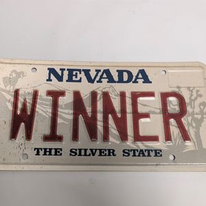 NEVADA VANITY Personalized LICENSE PLATE WINNER for Sale in Camp Pendleton North, CA