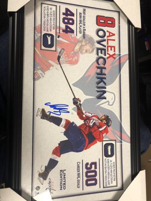Ovechkin autograph frame for Sale in Washington, DC