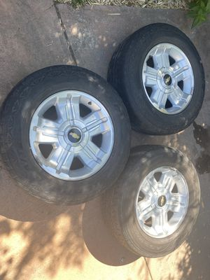RIMS AND TIRES FOR A CHEVY SILVERADO for Sale in Castro Valley, CA