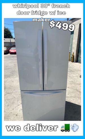"WHIRLPOOL 30"" WHITE FRENCH DOOR FRIDGE W/ ICE MAKER for Sale in Santa Ana, CA"