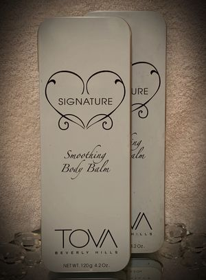 LOT OF 2! TOVA Beverly Hills Signature Smoothing Body Balm 4.2 oz/120g An Utterly Indulgent Experience! A Smoothing Buffer applies Perfumed Shimmer for Sale in San Diego, CA