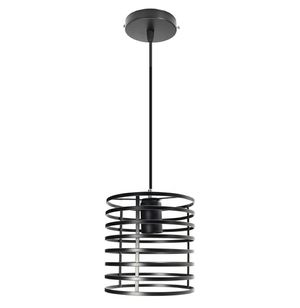 Cylindrical Shaped Iron Black Ceiling Light Frame Only (No Bulb Included) for Sale in ROWLAND HGHTS, CA