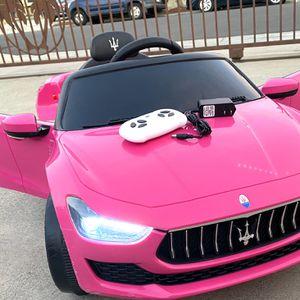 NEW CONDITION Maserati Ghibli 12volt Remote Control Model Electric Kid Ride On Car Power Wheels for Sale in Los Alamitos, CA