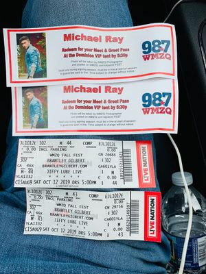 Brantley Gilbert tickets for tonight jiffy lube for Sale in Leesburg, VA
