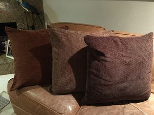 3 large Corduroy pillows 2ft x 2ft $12 each for Sale in Fresno, CA