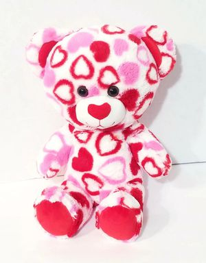 "Build A Bear Hearts Big Head 18"" Plush Teddy Red Pink White Stuffed Toy BABW for Sale in Dale, TX"