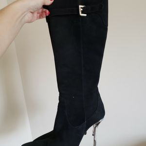 CESARE PACIOTTI BLACK LEATHER SUEDE BOOTS SIZE 36/6 for Sale in Issaquah, WA