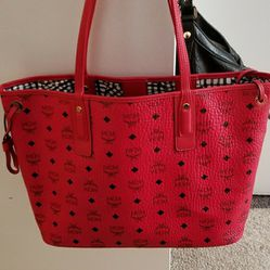 Red MCM bag And Matching Wallet for Sale in Boston,  MA