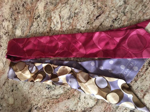 Coach purse ties