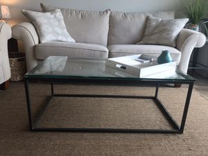 West Elm glass coffee table for Sale in Franklin, TN